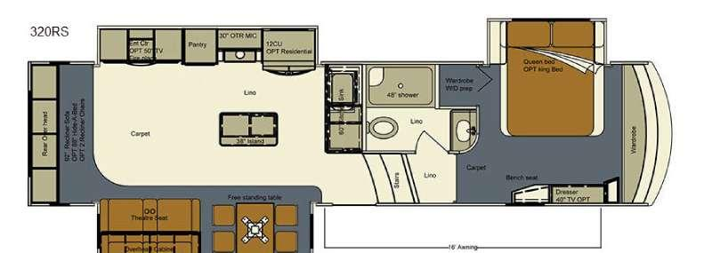 Floorplan - 2017 EverGreen RV Bay Hill 320RS