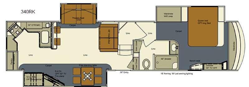 Floorplan - 2017 EverGreen RV Bay Hill 340RK