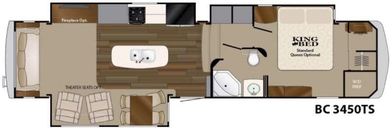 Big Country 3450 TS Floorplan Image