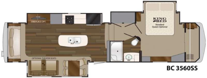 Big Country 3560 SS Floorplan Image