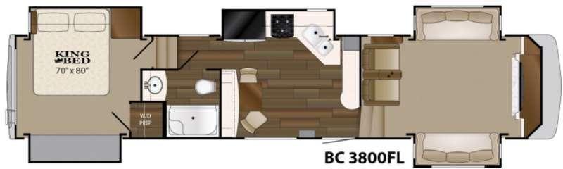 Big Country 3800 FL Floorplan Image