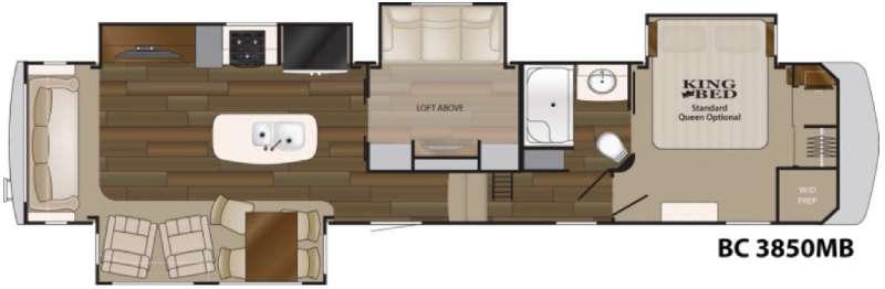 Floorplan - 2017 Heartland Big Country 3850 MB