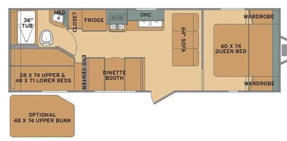 Flyte 255BH Floorplan Image