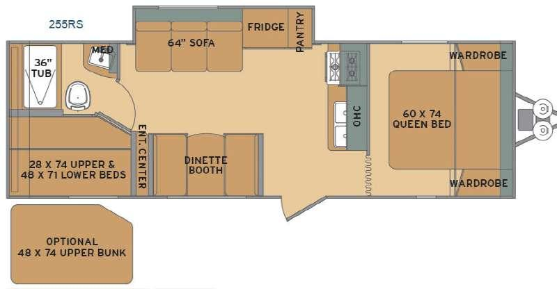 Flyte 255RS Floorplan Image