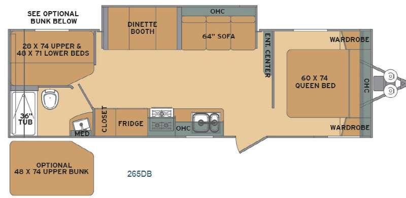 Flyte 265DB Floorplan Image
