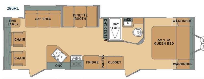 Flyte 265RL Floorplan Image