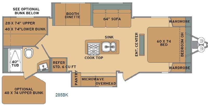 Flyte 285BK Floorplan Image
