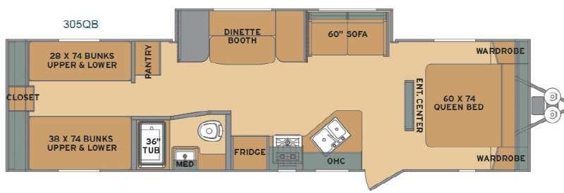 Flyte 305QB Floorplan Image