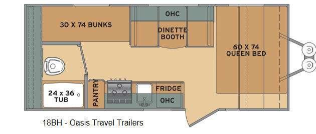 Oasis 18BH Floorplan Image