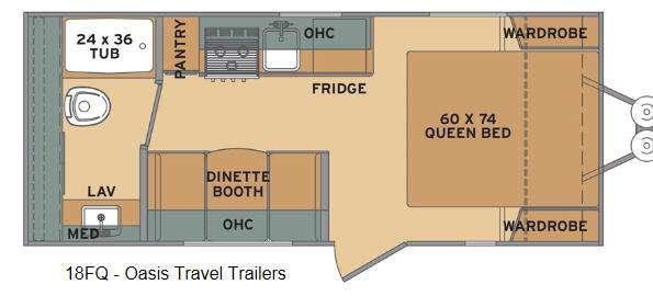 Oasis 18FQ Floorplan Image