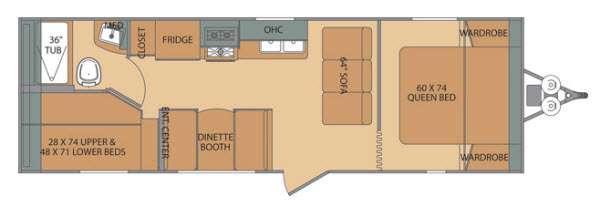 Oasis 25BH Floorplan Image