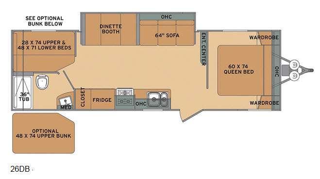 Oasis 26DB Floorplan Image