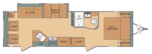 Oasis 26RL Floorplan Image