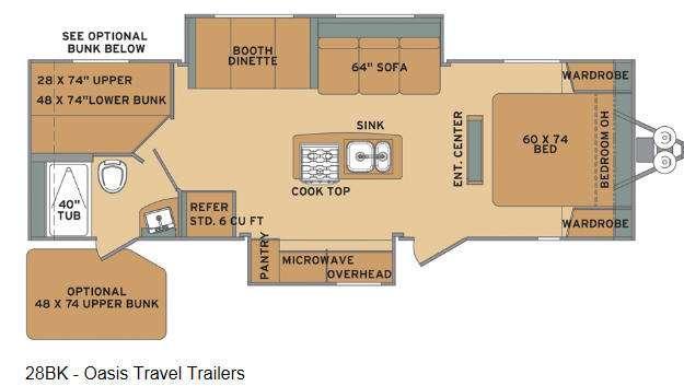 Oasis 28BK Floorplan Image