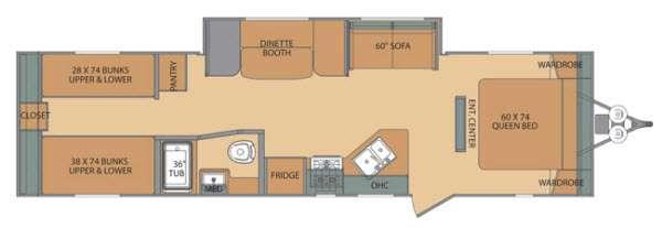 Oasis 30QB Floorplan Image