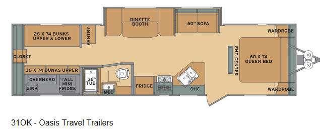 Oasis 310K Floorplan Image