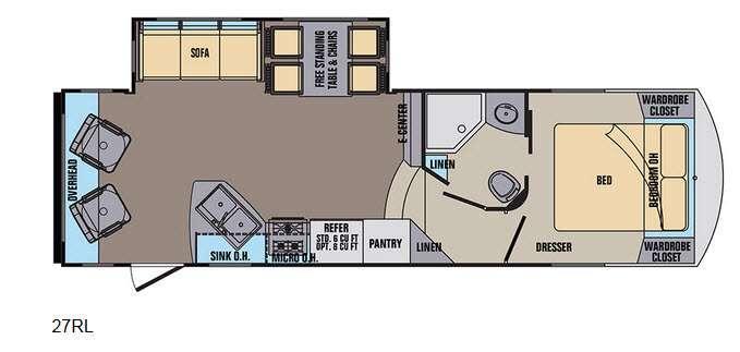 Phoenix Rise 27RLXLT Floorplan Image