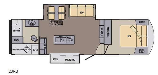 Phoenix Rise 28RBXLT Floorplan Image