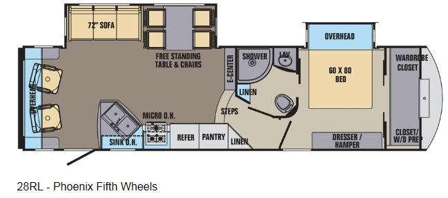 Phoenix 28RL Floorplan Image