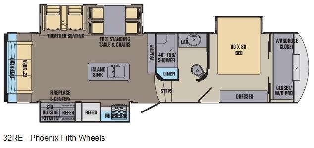 Phoenix 32RE Floorplan Image