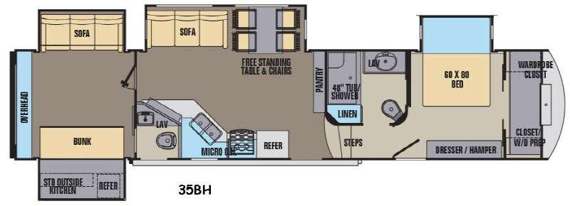 Phoenix 35BH Floorplan Image