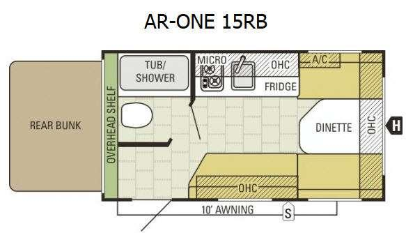 Floorplan - 2017 Starcraft AR-ONE 15RB
