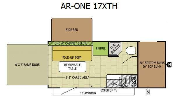 Floorplan - 2017 Starcraft AR-ONE 17XTH