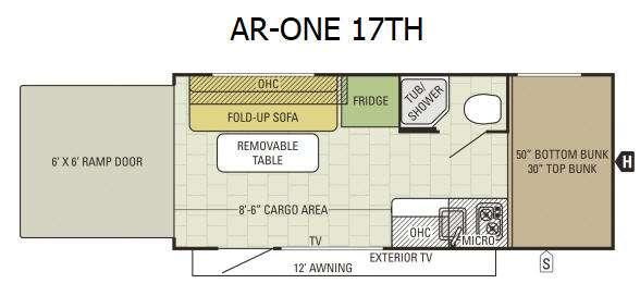 Floorplan - 2017 Starcraft AR-ONE 17TH