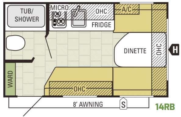 AR-ONE 14RB Floorplan Image
