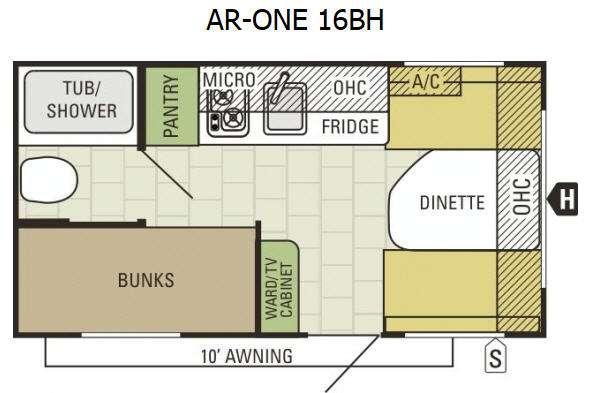 AR-ONE 16BH Floorplan Image