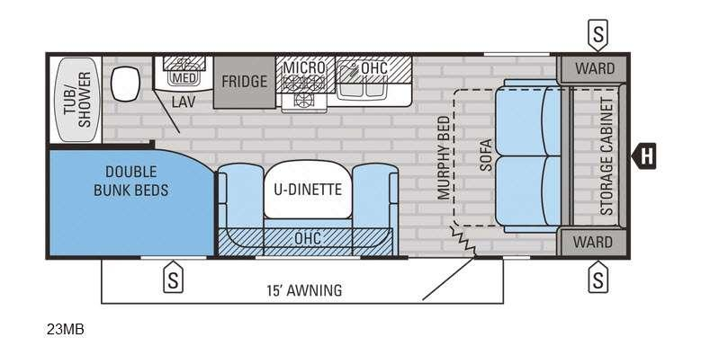 Jay Flight 23MB Floorplan Image