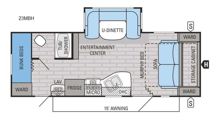Jay Flight 23MBH Floorplan Image