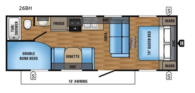 Jay Flight 26BH Floorplan Image