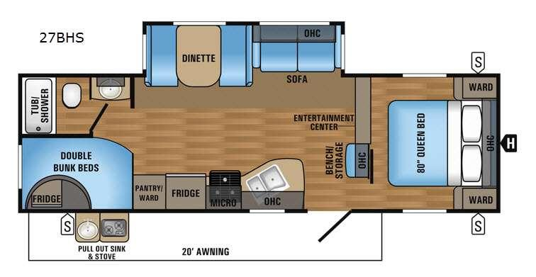 Floorplan - 2017 Jayco Jay Flight 27BHS