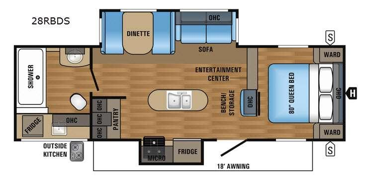 Jay Flight 28RBDS Floorplan Image