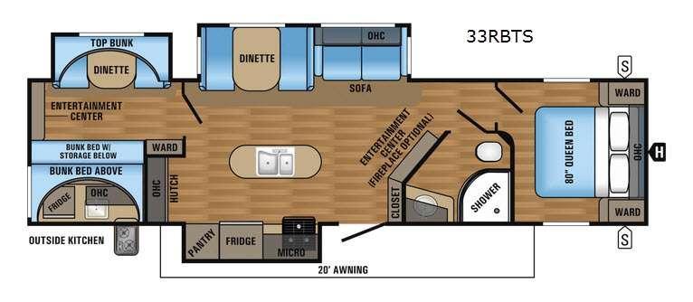 Jay Flight 33RBTS Floorplan Image