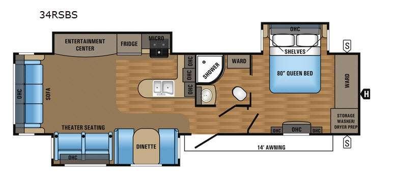 Jay Flight 34RSBS Floorplan Image