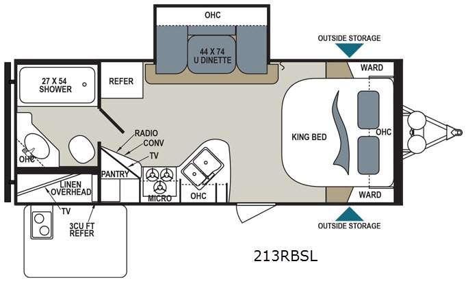 Aerolite 213RBSL Floorplan Image