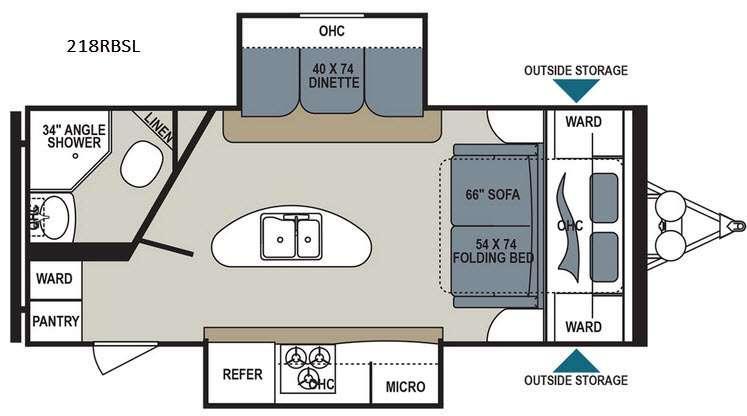 Aerolite 218RBSL Floorplan Image