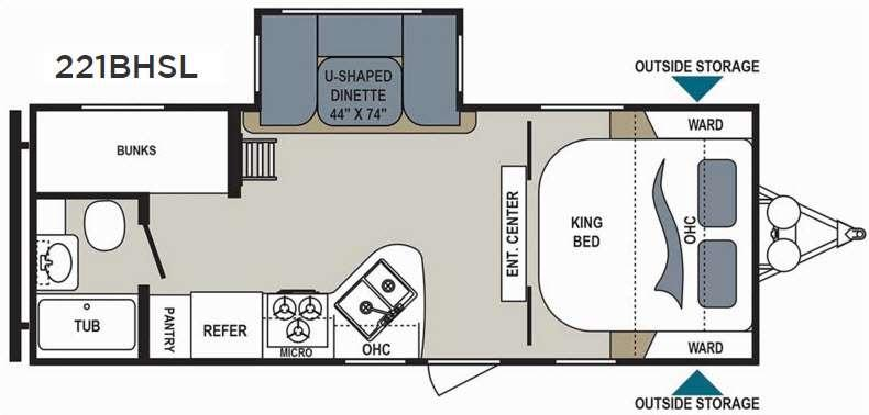 Floorplan - 2017 Dutchmen RV Aerolite 221BHSL