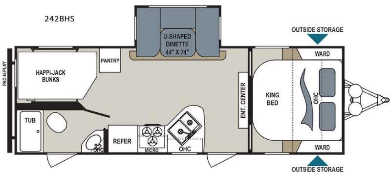 Aerolite 242BHS Floorplan Image