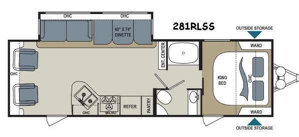 Aerolite 281RLSS Floorplan Image