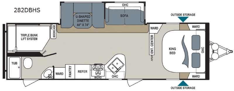 Aerolite 282DBHS Floorplan Image