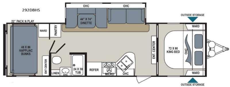 Aerolite 292DBHS Floorplan Image