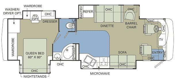 Floorplan - 2007 Holiday Rambler Neptune 36 PDQ