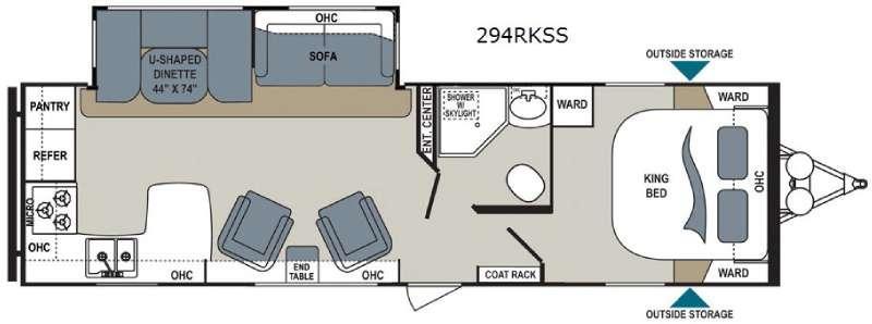 Aerolite 294RKSS Floorplan Image