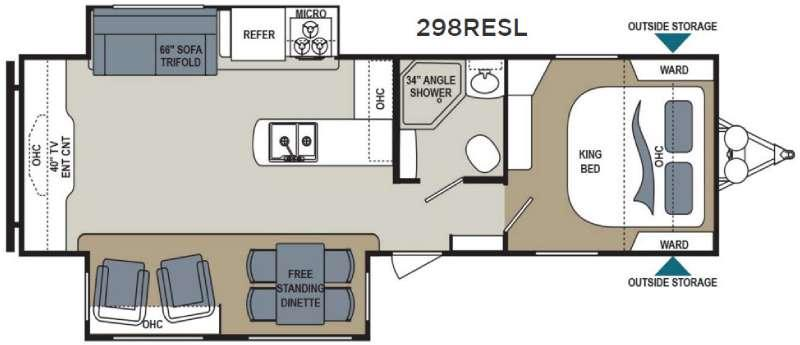 Aerolite 298RESL Floorplan Image