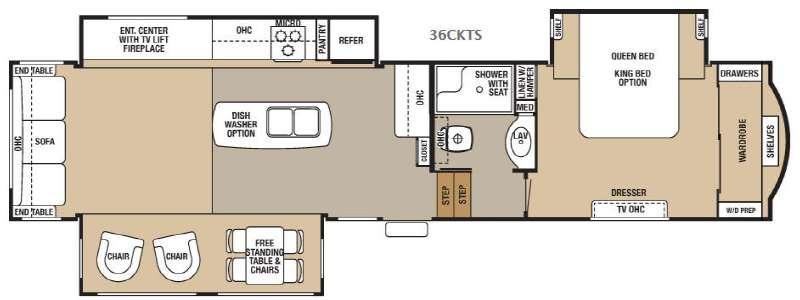 Floorplan - 2016 Forest River RV Cedar Creek Hathaway Edition 36CKTS