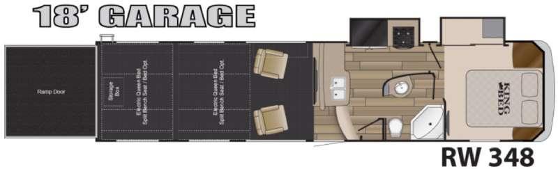 Road Warrior 348 Floorplan Image