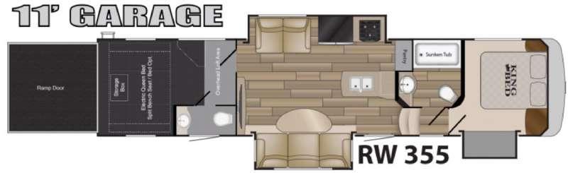 Road Warrior 355 Floorplan Image